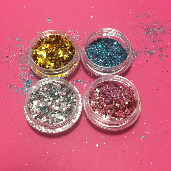 KIT COM 12 GLITTER MIX GEL pequeno - 4gr
