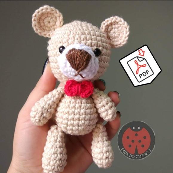 Urso com Cachecol Amigurumi em Croche Teddy | Elo7 | 580x579