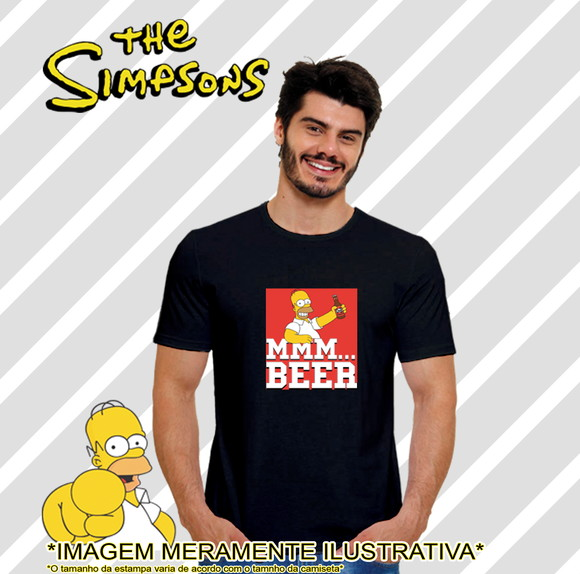 Camiseta Série Os Simpsons Homer beer