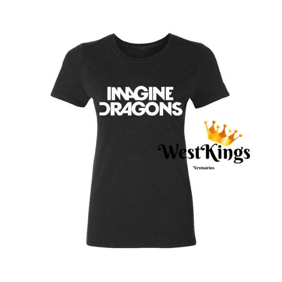 Camiseta Imagine Dragons Baby look Rock In Rio
