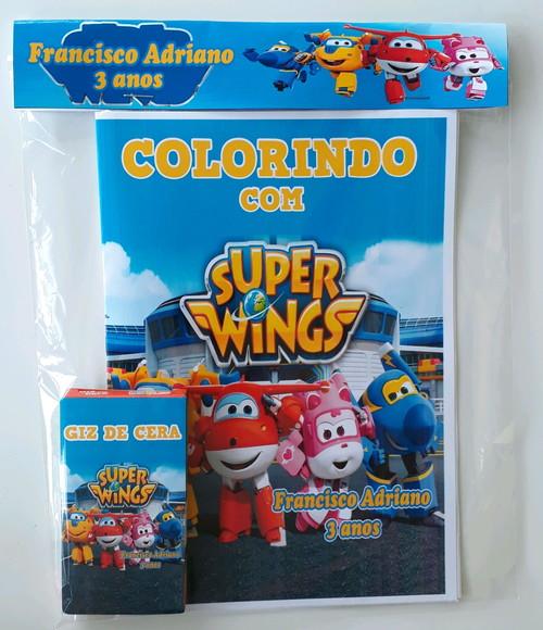 kit colorir super wings no elo7  jr lembranças e71ad7