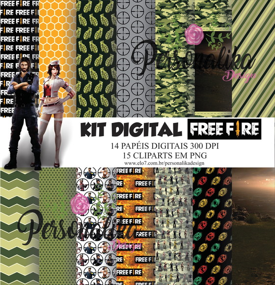 KIT DIGITAL FREE FIRE