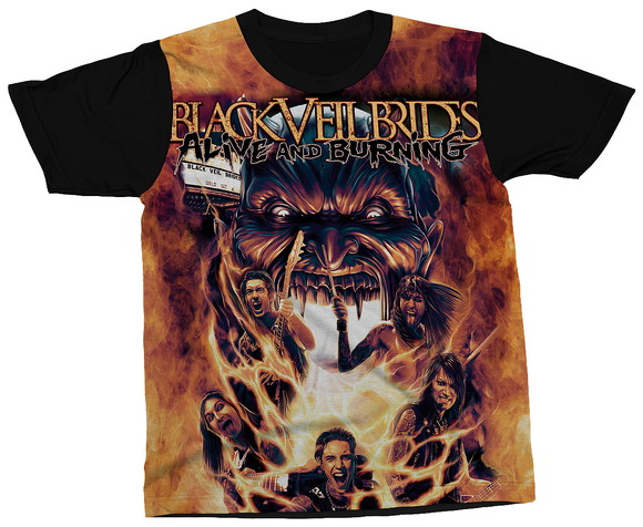 Camiseta Black Veil Brides Glam Metal Blusa Camisa Estampa