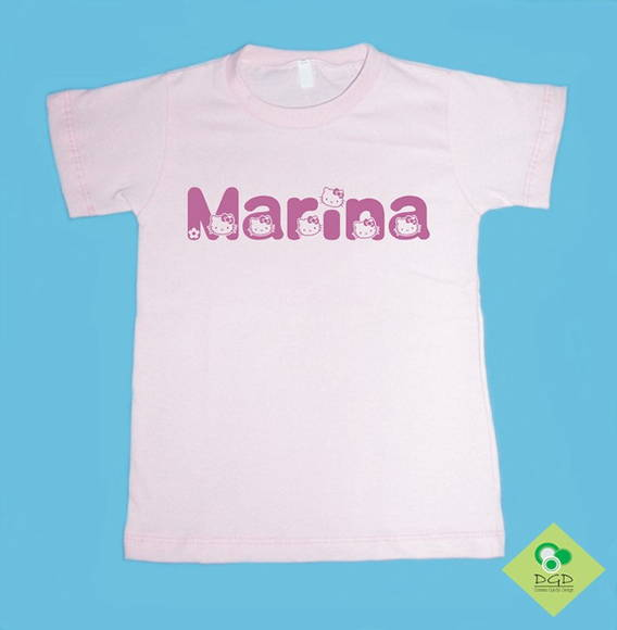 T-Shirt COM NOME MARINA HELLO KITTY