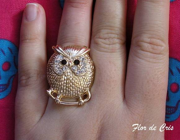 30%off Anel Fat Owl