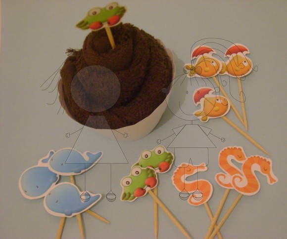 Toppers para doces c/ corte especial
