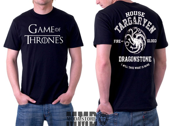 Camiseta Game Of Thrones Stark Targaryen Got Série Nerd