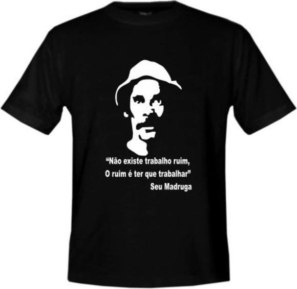 f82235079 Camiseta Seu Madruga Trabalho no Elo7