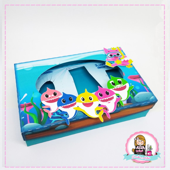 Kit Mini Confeiteiro Baby Shark