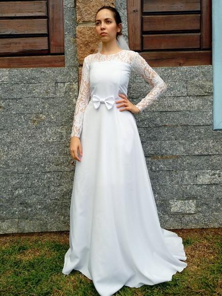 39d394d4ce Vestido de Noiva Casamento Lindo Tule e Renda