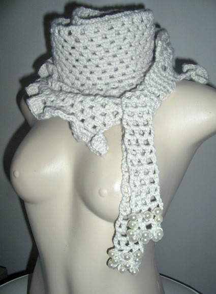 Cachecol Scarf Crochet Nude