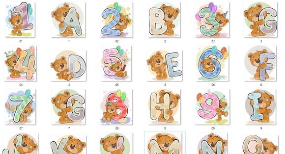 Alfabeto Ursinho Elo7