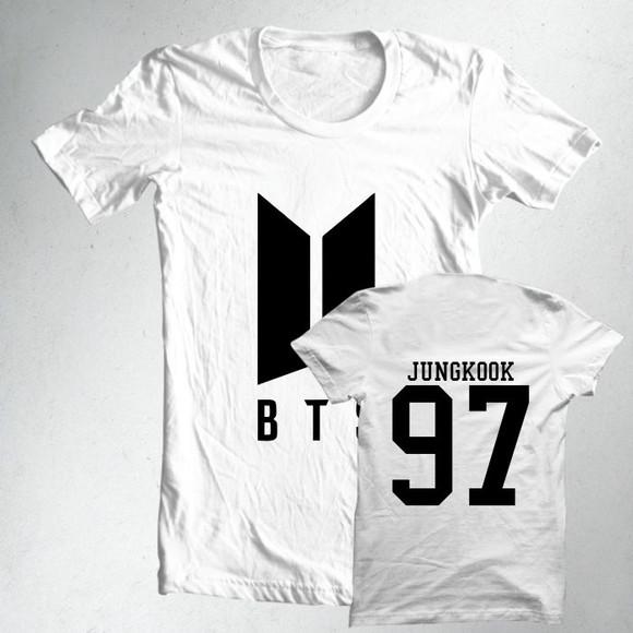 ab2db1b7421a4 Camiseta Camisa Ou Baby Look K-pop BTS Integrant Jungkook 97 no Elo7 ...