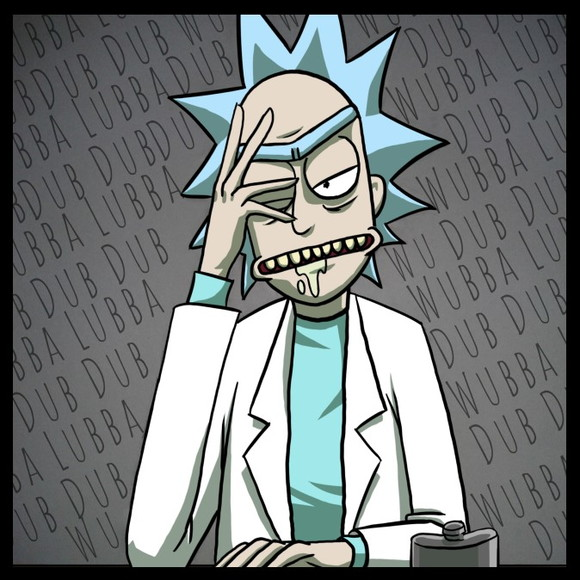 Quadro Wubba Lubba Dub Dub - Por Rick and Morty