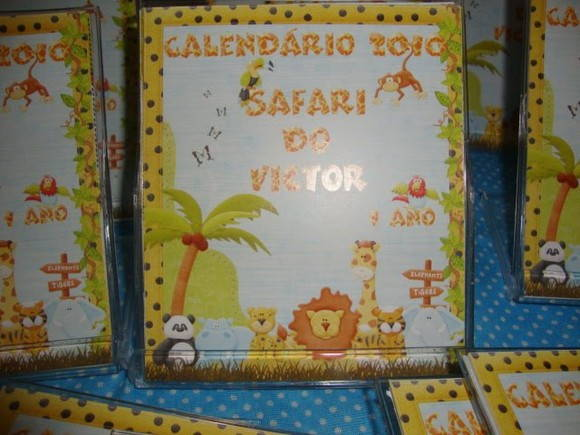 Calendario na Caixa de CD Safari