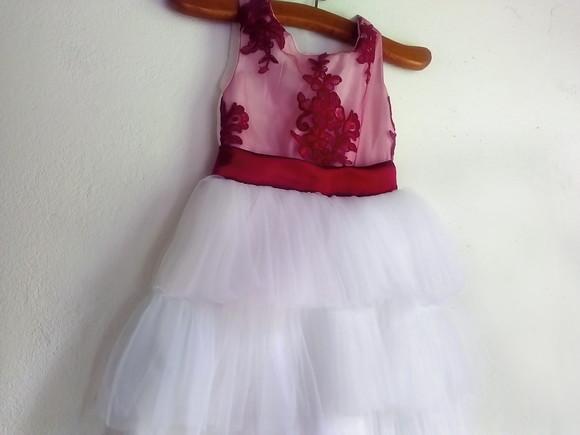 d7488b789a Vestido de Festa Renda com Saia Chiffon