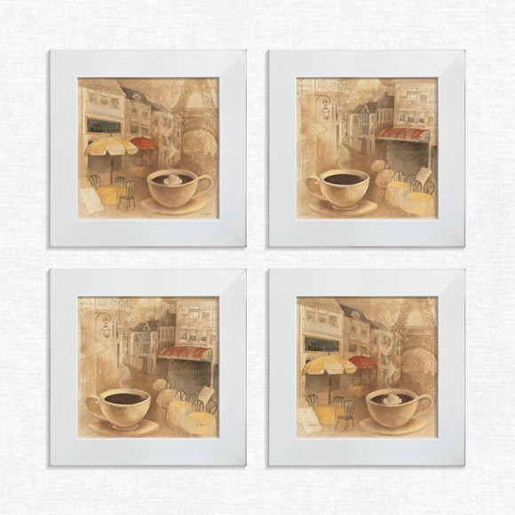 d364a68cb Kit 4 Quadros Decorativos Café Paris Torre Pequeno Comp1151 no Elo7 ...