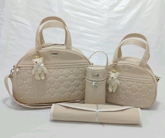Kit bolsas maternidade personalizada no Elo7   charliston