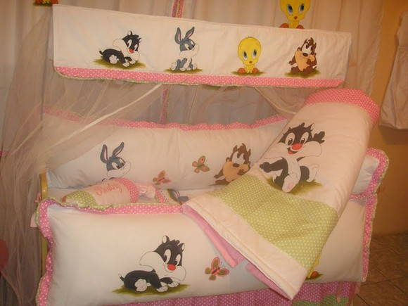 KIT DE BERÇO LOONEY TUNES BABY