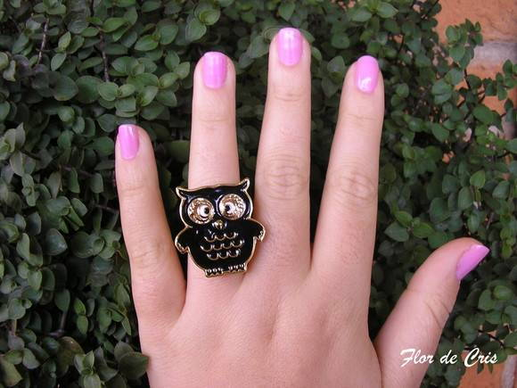 15%off Funny Owl Ring