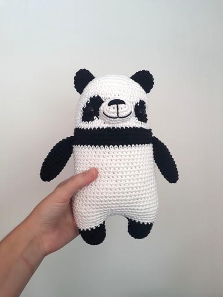 Panda gigante amigurumi - schema uncinetto gratuito | Airali | 580x435