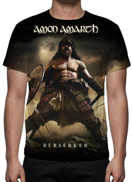 Camiseta - Amon Amarth - Berserker - Estampa Total