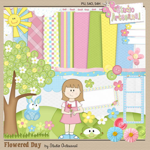 "Kit Digital ""Flowered Day"""