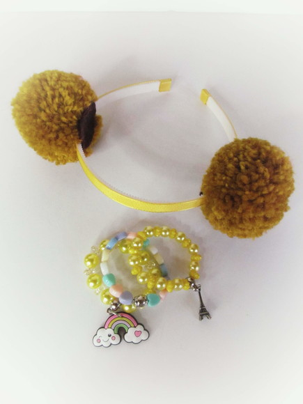 Tiara lol Surprise Dourada (lol Queen Bee) + Kit Pulseira