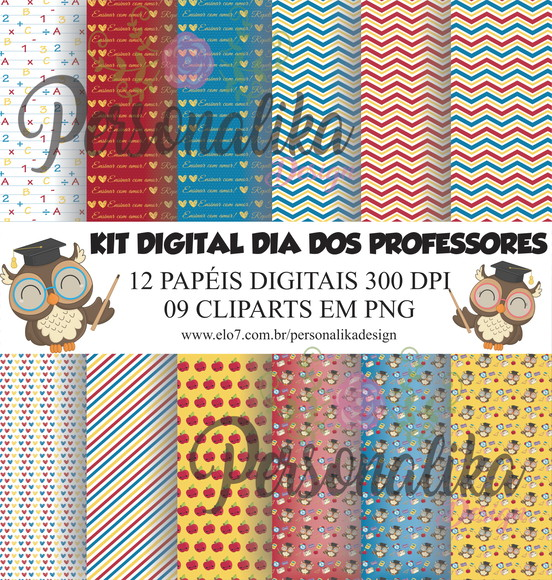 KIT DIGITAL DIA DOS PROFESSORES CUTE