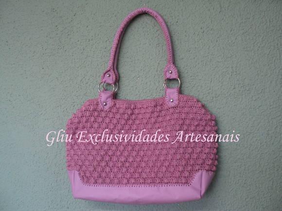 Bolsa D G rosa no Elo7   Gliu exclusividades artesanais (14D3DA) a7b65d0bb4