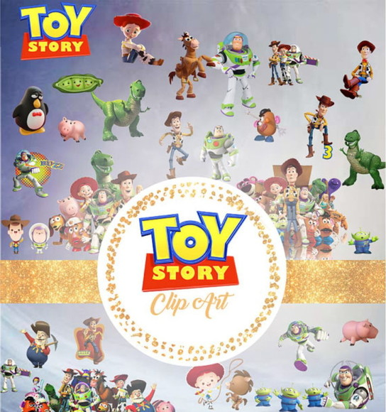 2108 - Kit Digital Toy Story em PNG