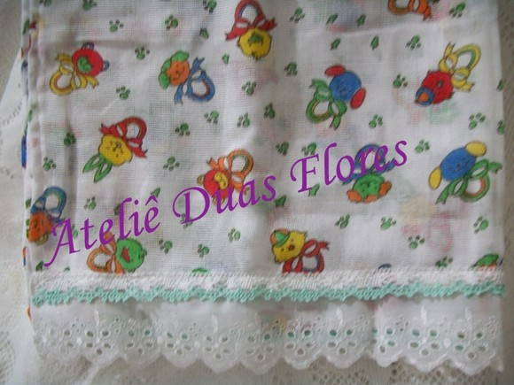 Kit de fraldas estampadas neutro