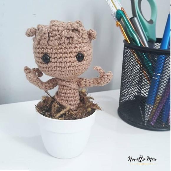 Crochet pattern of Groot | Crochet teddy bear pattern, Crochet ... | 578x580
