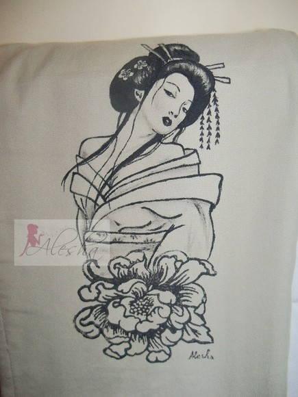 Gueixa e pe nia alesha artes elo7 - Tattoos geishas japonesas ...