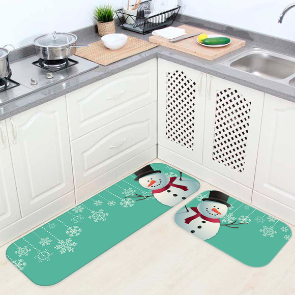 Tapete De Cozinha Natal design látex de volta Papai Noel Rena Boneco De Neve Home Decor
