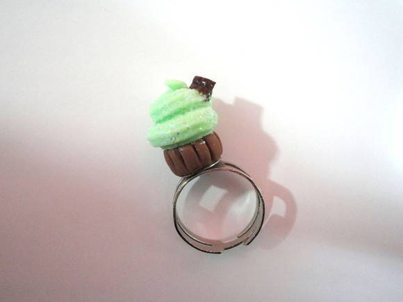 Anel Cupcake Verde