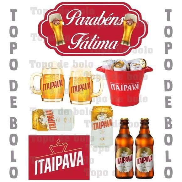 Topo De Bolo Digital Cerveja Itaipava Para Imprimir Elo7