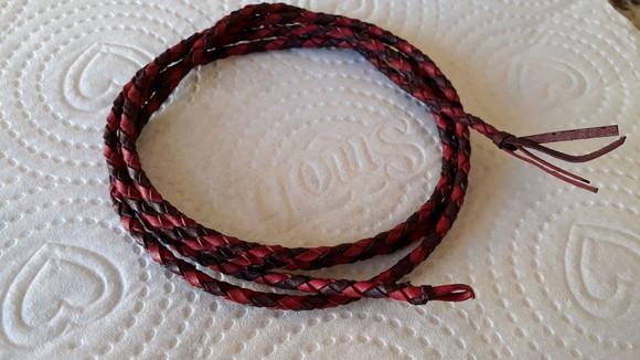 Cordão Couro Reciclado Trançado Preto 3,5 mm. no Elo7