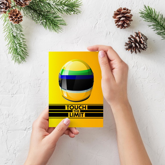 Placa decorativa 15x20cm Ayrton Senna Touch The Limit