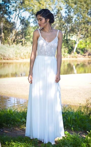 Vestido Noiva Sereia Boho Tule Bordado Cauda Pré Wedding