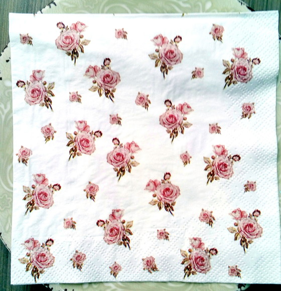 Guardanapo DE PAPEL Vintage Estampa Mini Rosas Rubras