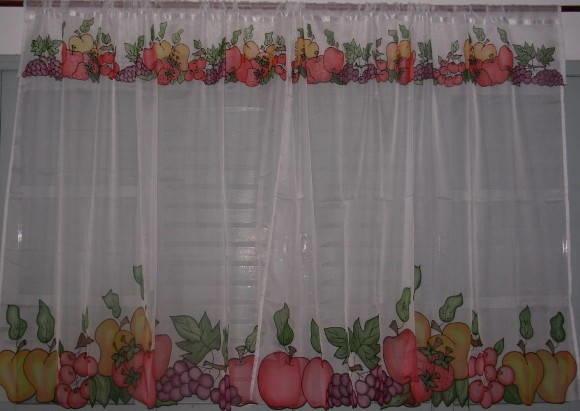 Cortinas para cozinha frutas no elo7 atelier olga vogler for Pintado de salas pequenas