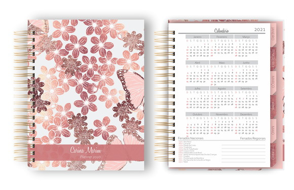 Planner Agenda 2020 Rose Gold - Arquivo Digital