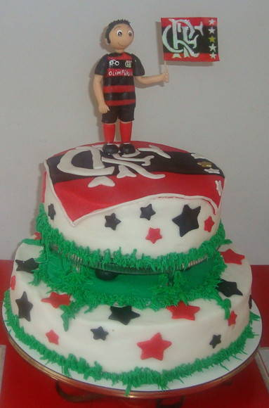 Bolo Decorado do Flamengo