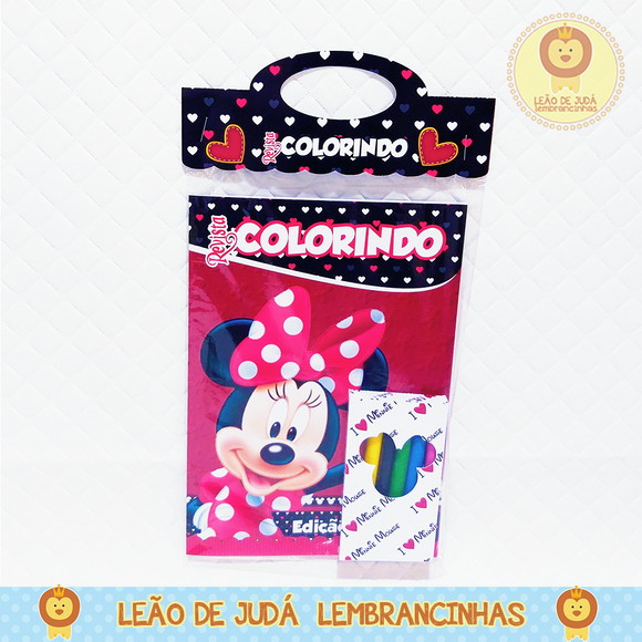 Revistinha para colorir Tema minnie