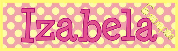 ~ Plaquinha/Little Plate ♥ Izabela ~