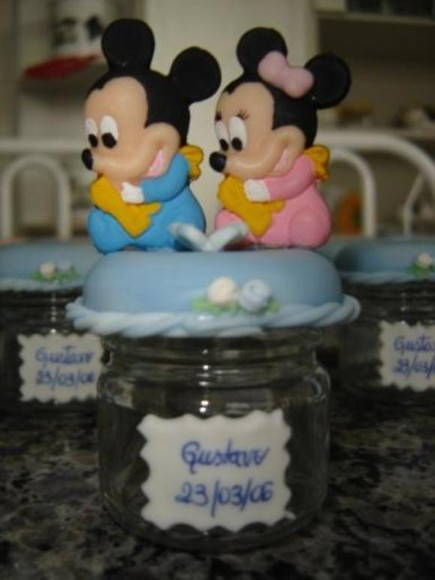 Lembrancinha do Mickey e Minnie Baby