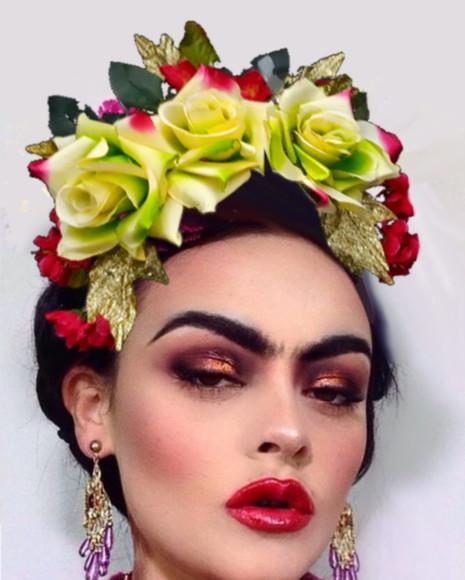 Resultado de imagem para tiara de carnavalflores grandes