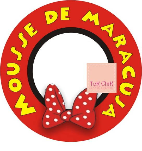 Topper Minnie para mousse de maracujá