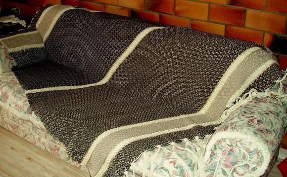 Manta de sof no tear de pedal tecelu elo7 - Manta de sofa ...